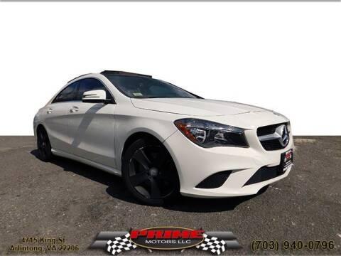 2015 Mercedes-Benz CLA for sale at PRIME MOTORS LLC in Arlington VA