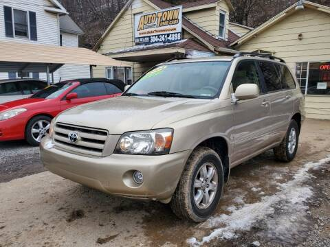 2004 Toyota Highlander for sale at Auto Town Used Cars in Morgantown WV