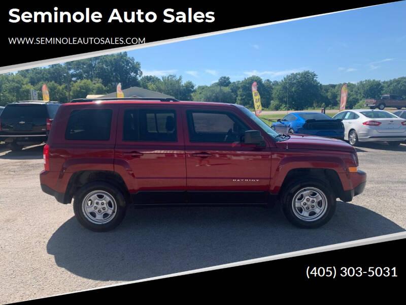 2017 Jeep Patriot for sale at Seminole Auto Sales in Seminole OK
