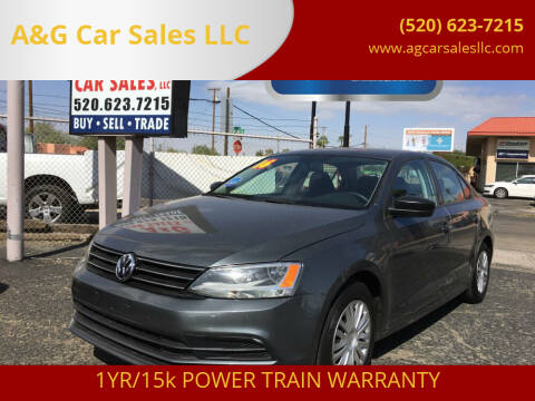 2016 Volkswagen Jetta for sale at A&G Car Sales  LLC in Tucson AZ