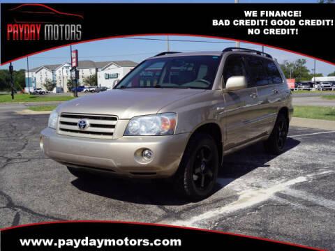 2004 Toyota Highlander for sale at Payday Motors in Wichita KS