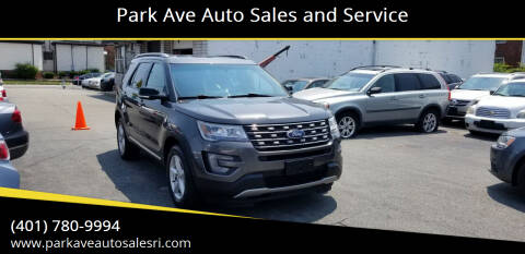 2017 Ford Explorer for sale at Park Ave Auto Sales and Service in Cranston RI