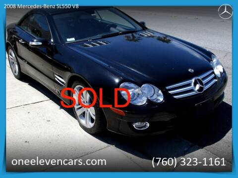 2008 Mercedes-Benz SL-Class for sale at One Eleven Vintage Cars in Palm Springs CA