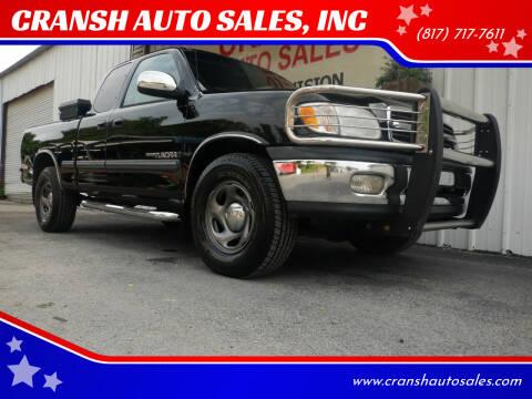 2001 Toyota Tundra for sale at CRANSH AUTO SALES, INC in Arlington TX