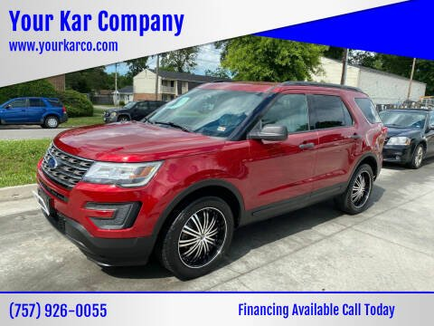 2017 Ford Explorer for sale at Your Kar Company in Norfolk VA