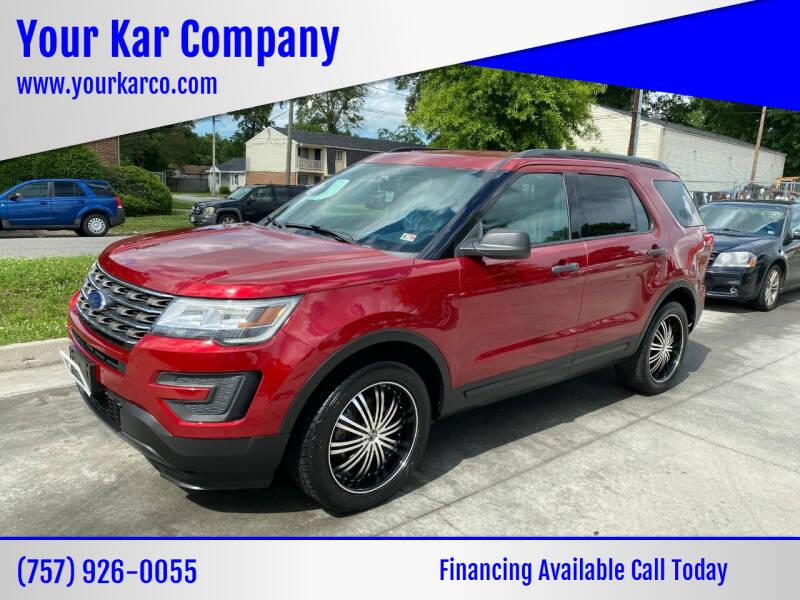 2017 Ford Explorer for sale at Your Kar Company in Norfolk VA