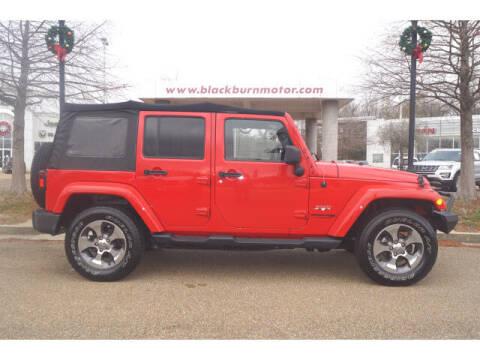 2018 Jeep Wrangler JK Unlimited for sale at BLACKBURN MOTOR CO in Vicksburg MS