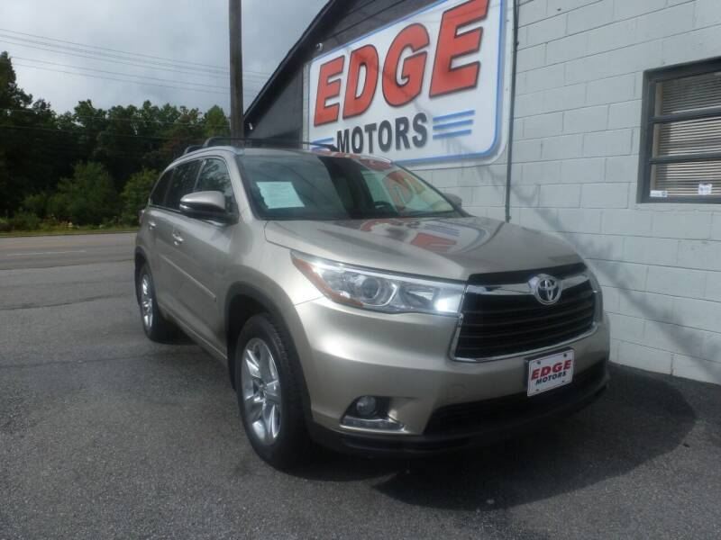 2014 Toyota Highlander for sale at Edge Motors in Mooresville NC