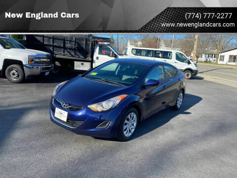 2012 Hyundai Elantra for sale at New England Cars in Attleboro MA