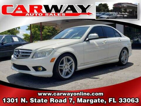 2009 Mercedes-Benz C-Class for sale at CARWAY Auto Sales in Margate FL