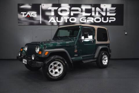1999 Jeep Wrangler for sale at TOPLINE AUTO GROUP in Kent WA