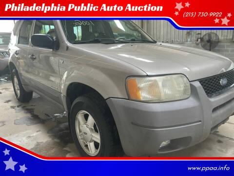 2001 Ford Escape for sale at Philadelphia Public Auto Auction in Philadelphia PA