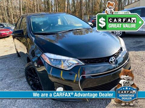 2016 Toyota Corolla for sale at High Rated Auto Company in Abingdon MD