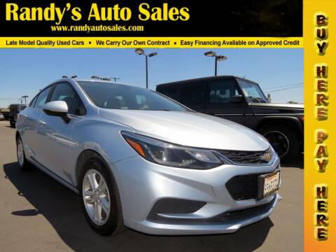 2018 Chevrolet Cruze for sale at Randy's Auto Sales in Ontario CA