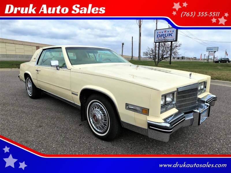 1983 Cadillac Eldorado for sale at Druk Auto Sales in Ramsey MN