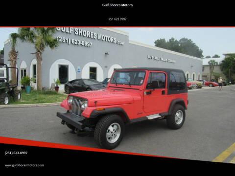 1995 Jeep Wrangler for sale at Gulf Shores Motors in Gulf Shores AL