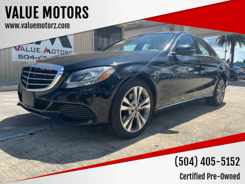 2017 Mercedes-Benz C-Class for sale at VALUE MOTORS in Kenner LA