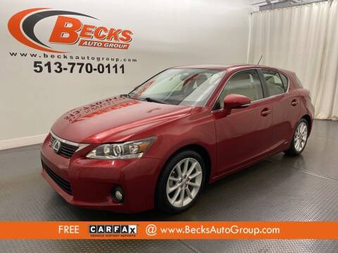 2011 Lexus CT 200h for sale at Becks Auto Group in Mason OH