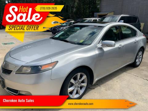2012 Acura TL for sale at Cherokee Auto Sales in Acworth GA