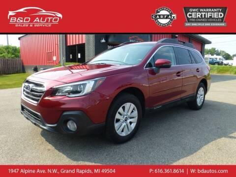 2018 Subaru Outback for sale at B&D Auto Sales Inc in Grand Rapids MI
