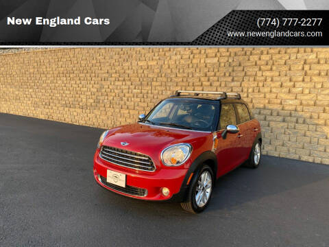 2013 MINI Countryman for sale at New England Cars in Attleboro MA
