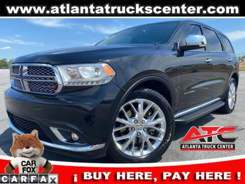 2015 Dodge Durango for sale at ATLANTA TRUCK CENTER LLC in Brookhaven GA