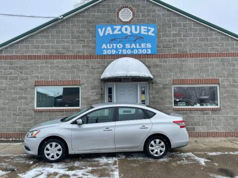 2013 Nissan Sentra for sale at VAZQUEZ AUTO SALES in Bloomington IL