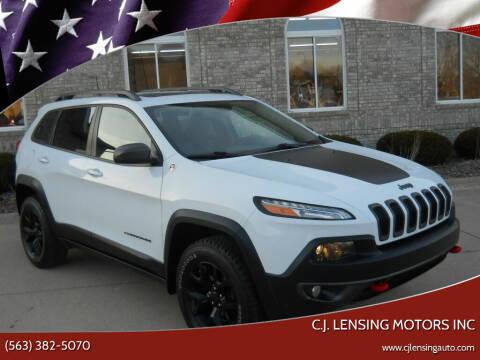 2016 Jeep Cherokee for sale at C.J. Lensing Motors Inc in Decorah IA