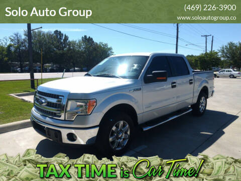 2013 Ford F-150 for sale at Solo Auto Group in Mckinney TX