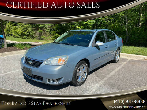 2007 Chevrolet Malibu for sale at CERTIFIED AUTO SALES in Severn MD