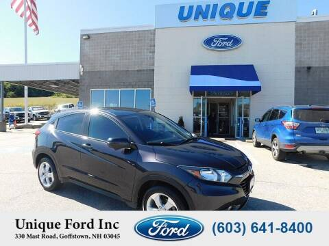 2016 Honda HR-V for sale at Unique Motors of Chicopee - Unique Ford in Goffstown NH