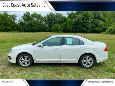 2012 Ford Fusion for sale at East Coast Auto Sales llc in Virginia Beach VA