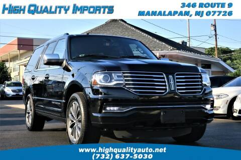 2016 Lincoln Navigator for sale at High Quality Imports in Manalapan NJ
