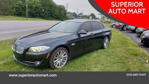 2011 BMW 5 Series for sale at SUPERIOR AUTO MART in Amelia OH