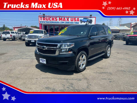 2016 Chevrolet Tahoe for sale at Trucks Max USA in Manteca CA