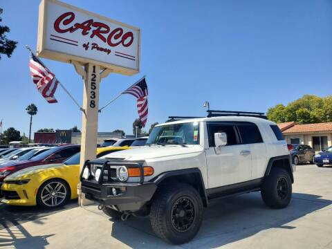 2012 Toyota FJ Cruiser for sale at CARCO SALES & FINANCE - CARCO OF POWAY in Poway CA