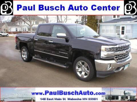 2018 Chevrolet Silverado 1500 for sale at Paul Busch Auto Center Inc in Wabasha MN