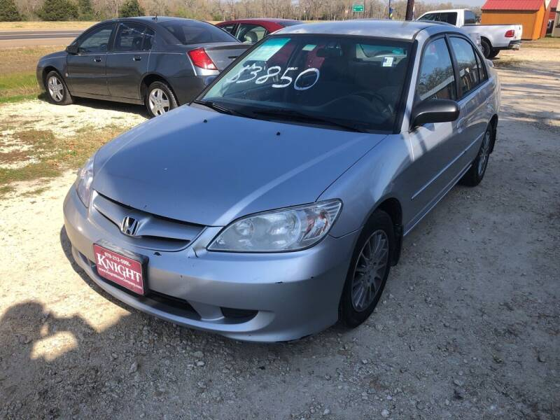 2005 Honda Civic for sale at Knight Motor Company in Bryan TX
