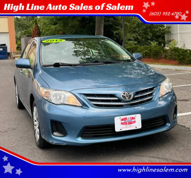 2013 Toyota Corolla for sale at High Line Auto Sales of Salem in Salem NH