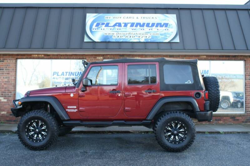 2012 Jeep Wrangler Unlimited for sale at Platinum Auto World in Fredericksburg VA