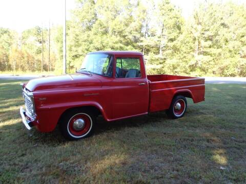 1960 International B100 for sale at CAROLINA CLASSIC AUTOS in Fort Lawn SC