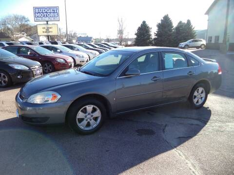 2007 Chevrolet Impala for sale at Budget Motors in Sioux City IA