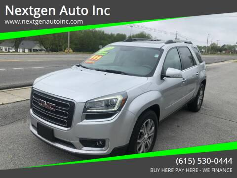 2014 GMC Acadia for sale at Nextgen Auto Inc in Smithville TN