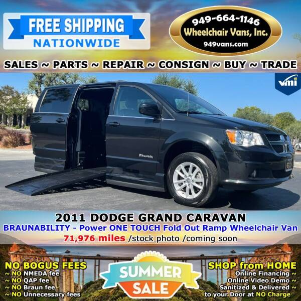 2011 Dodge Grand Caravan for sale at Wheelchair Vans Inc - New and Used in Laguna Hills CA