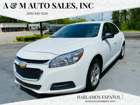 2016 Chevrolet Malibu Limited for sale at A & M Auto Sales, Inc in Alabaster AL