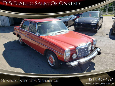 1976 Mercedes-Benz 300-Class for sale at D & D Auto Sales Of Onsted in Onsted MI
