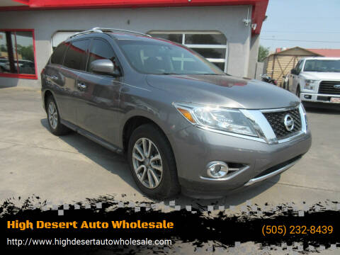 2015 Nissan Pathfinder for sale at High Desert Auto Wholesale in Albuquerque NM