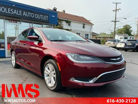 2015 Chrysler 200 for sale at MWS Wholesale  Auto Outlet in Grand Rapids MI