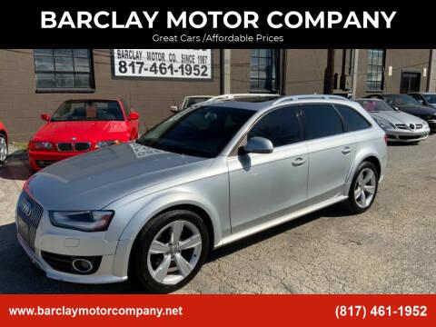 2013 Audi Allroad for sale at BARCLAY MOTOR COMPANY in Arlington TX