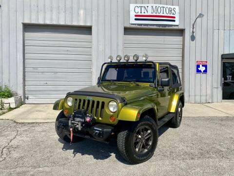 2007 Jeep Wrangler for sale at CTN MOTORS in Houston TX